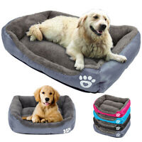 Cozy Large Dog Beds Warm Fleece Pet Sleeping Cushion Cat Puppy Kennel Sofa Mat