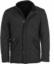 Barbour Powell Quilted Mens Jacket Black