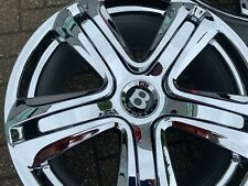 "20"" BENTLEY GT GTC SPUR genuine alloy wheels 3W0601025DC chome forged RRP £6000"