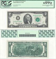 1976 $2 New York District Error Mismatched Serial Letters Fr 1935-B Pcgs 65Ppq