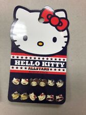 Hello Kitty All Stars Loungefly 6 Pair Earring Set
