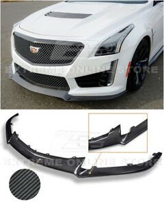 For 16-19 Cadillac CTS-V | CARBON FIBER Package Front Bumper Lower Lip Splitter