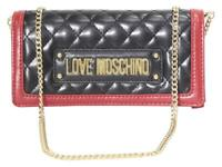 Love Moschino Women's Black/Multi Quilted Clutch Wallet