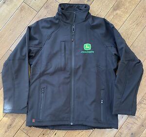 John Deere Soft shell Jacket Black XXL Brand New