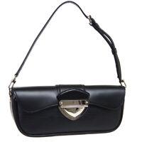 LOUIS VUITTON POCHETTE MONTAIGNE HAND BAG TH0039 PURSE BLACK EPI M59292 39946