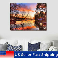 Sunset Landscape LED Lighted Luminous Painting Art Canvas Print Home Wall Decor