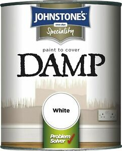 Johnstone's Damp Proof Paint High Opacity to Safeguard Damp Seeping White 750ml