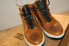 New Frye Wythe Court sneakers 10 M handcrafted $478 Cognac Made In Italy