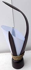 Abat-jour ethnisch in kokosnuss nero reispapier weiß ethnisch abatjour lampe