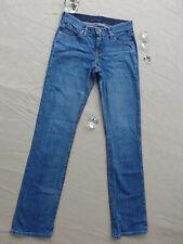 Wrangler Q-Baby Distressed Blue Denim Straight Ladies Jeans Size 36 Waist 80 cm