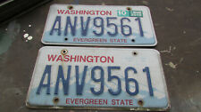 2 Washington State license plates Plate Wa car truck matched pair set - Anv 9561