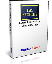 Pere Marquette Steam Engine Locomotive Diagrams - PDF on CD - RailfanDepot