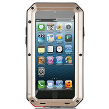 Luxury Waterproof Shockproof Metal Case Cover+Gorilla Glass for iPhone Samsung