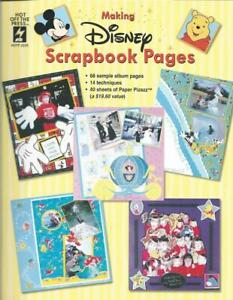 Making Disney Scrapbook Pages & 40 Papers 68 Sample Pgs New Pocket Piecing +