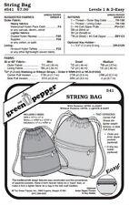Drawstring Bag Bags Purses Knapsack #541 Sewing Pattern (Pattern Only) gp541