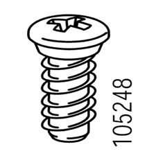 10x  IKEA EURO SCREW CXN WITH NECK 13MM PART #105248