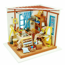 Robotime DIY Tailor Shop Dollhouse with Furniture Miniature Kits Handmade Toy