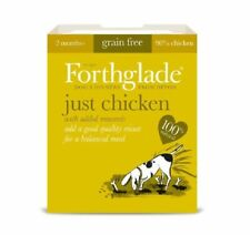 Forthglade 100% Natural Grain Free Dog Wet Food Tray Just 90% Chicken 395g x 12