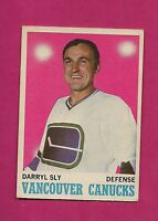 1970-71 OPC  # 115 CANUCKS DARRYL SLY  ROOKIE GOOD CARD (INV# A1958)