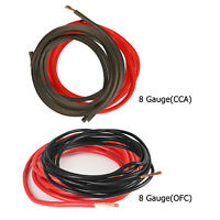 Car Stereo Power Wire 8 Gauge Black & Red Copper Audio Amp Cable Wiring Feet Lot