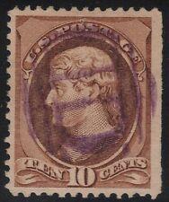 US Scott # 209 10c Jefferson Fancy Cancel SON Purple Strike