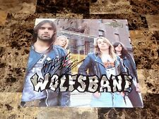 Blaze Bayley Rare SIGNED Wolfsbane Promo Vinyl LP Record Heavy Metal Iron Maiden