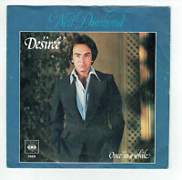 """Neil DIAMOND Vinyl 45 tours 7"""" SP DESIREE - ONCE IN A WHILE - CBS 5869 F Reduit"""