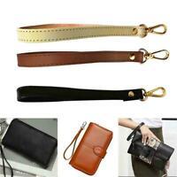 Genuine Leather Wristlet Wrist Bag Strap Replacement Handbag For Purse Shou C6B3