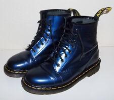 Original Dr. Doc Martens Docs blau-matallic Gr. 39 (UK 6) 1460 8-Loch NEUWERTIG!
