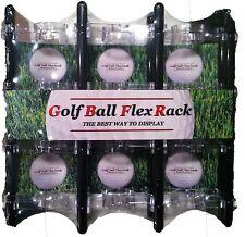 Flex Rack Modular 24 Golf Ball Display Wall Desktop Made in USA Shelf Case Black
