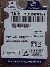 MediaMax WL 1500 glsa 854g (WD 15 NPVX) 2060-771823-000 - 1,5tb Refurbished HARD DISK