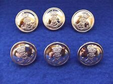 6 X BRAND NEW GREEN HOWARDS GOLD ANODISED 19MM BUTTONS IDEAL FOR JACKET/BLAZER