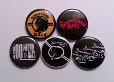 "5 x Boomtown Rats 1"" Pin Button Badges ( new wave dublin music )"