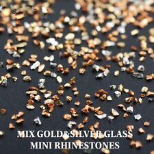 USA Crushed Glass Glitter Rhinestones Solvent Resistant Acrylic Gel Nail Art