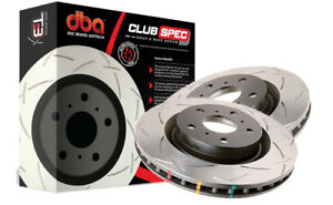 DBA T3 FRONT Slotted Brake Rotors DBA42722S x2 LANDCRUISER 200 SERIES 17in Wheel