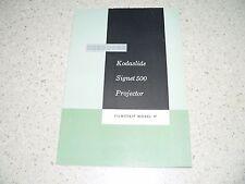 Original Kodak Kodaslide Signet 500 Model 1F Filmstrip Projector Owner's Manual