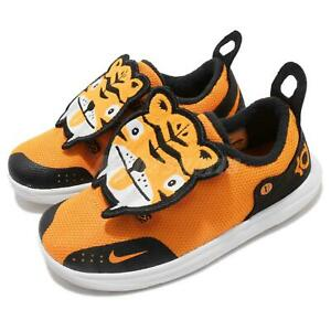 Nike KD11 LB TD XI Orange Peel Black Tiger Toddler Infant Baby Shoes AT5707-800