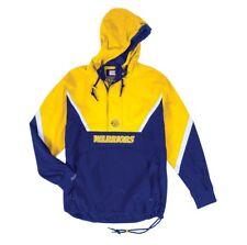 NEW Mitchell & Ness Half Zip Anorak NBA Golden State Warriors Light Jacket