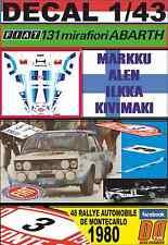 DECAL 1/43  FIAT 131 ABARTH M.ALEN R.MONTECARLO 1980 DnF (02)