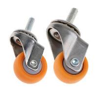 2 Roulettes Pivotantes Robustes Roulent Les Roulettes De Meubles De Chariot 1