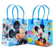Mickey Mouse Blue Authentic Licensed Reusable Small Party Favor Goodie 12 Bags