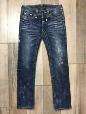 Big Star Liv Slim Boot Cut Jeans Womens Size 24 Distressed Blue Denim 29 Inseam