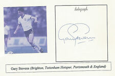 Gary Stevens Brighton Tottenham Hotspur Portsmouth & England SIGNED  PHOTO CARD