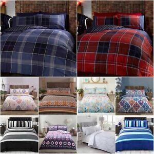 Duvet Cover Bedding Set + Pillowcase Single Double King Size Luxury Quilt Cover