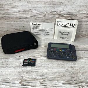 Franklin Bookman Dictionary & Thesaurus DMQ-640 with Case + Math Blaster Mystery