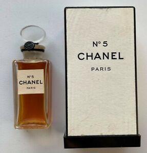 CHANEL NO 5 PARFUM 7 ml 0.25 fl oz VINTAGE 1950/60S SEALED BOTTLE
