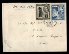DR WHO 1945 MALTA AIRMAIL TO ENGLAND  f82333
