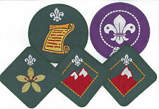 Hong Kong Cub Scout Progressive Rank Award Jacket Patch SET (TOTAL 5 BADGES)