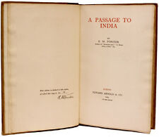 E. M. FORSTER - A Passage to India - LIMITED SIGNED FIRST EDITION!