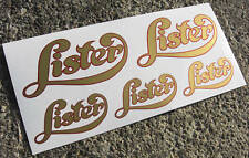 LISTER Engine logo style gold sticker decal set